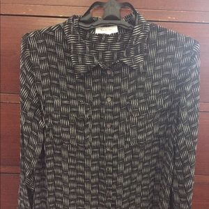 Black and white Vince Camuto button up